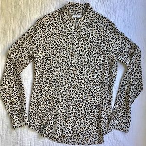 Equipment XS Leopard Silk Femme Shirt Top Blouse
